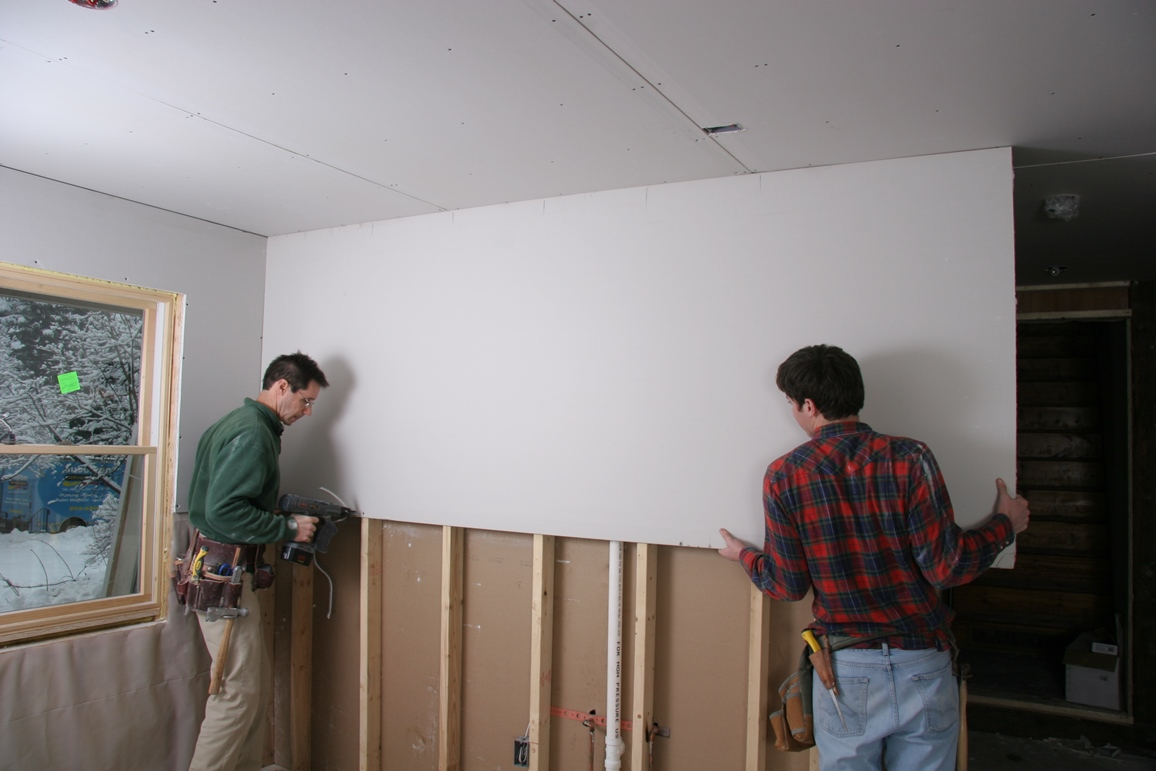 Guide-to-drywall-photo-3-Horizontal-seam-on-a-longer-wall